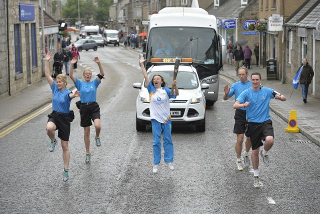 Doigs of Glasgow Queens Baton Relay Coach from 2014
