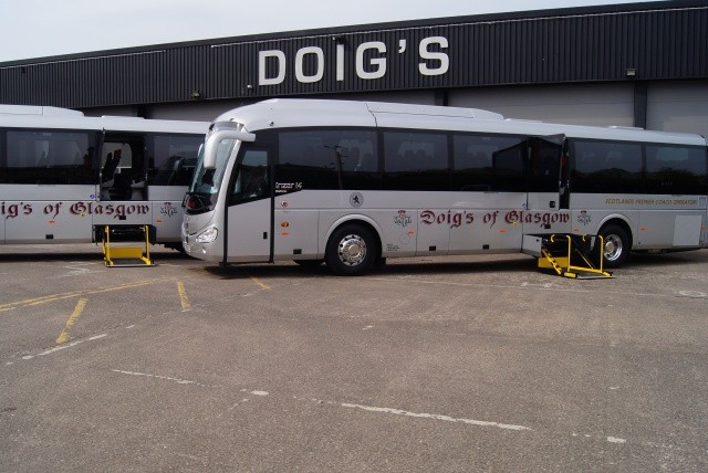 Link for Image to view Doigs of Glasgow Wheelchair Accessible Coaches on the image